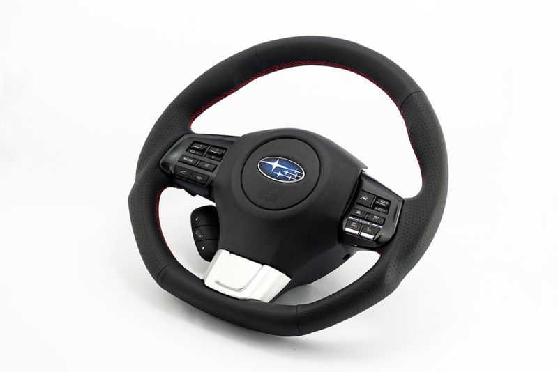 KENSTYLE Steering (Standard Leather - Red Stitch) - Subaru WRX S4 VAG A/B (FA20 (DIT))